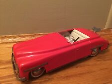 1947 Blue Distler Convertible Windup Pressed Tin Windup Car with Key