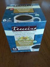 Teeccino Organic Herbal Tea - Dandelion Turmeric - Case of 6 boxes x 10 tea bags