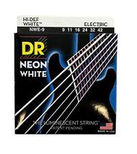 DR Strings Guitar Strings Electric Neon White 09-42 Light