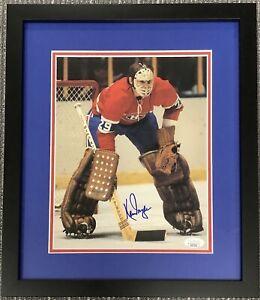 Ken Dryden Signed Color Photo Framed Hockey Montreal Canadiens Autograph HOF JSA