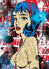 Portrait Street Art POP ART Collectif Big Twins Roy Lichtenstein