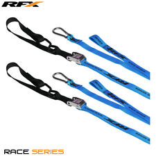 RFX MX Tie Downs Blue with Extra Loop & Carabiner Clip Ideal Yamaha WR125/250