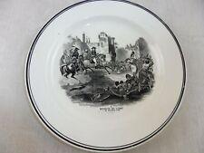 Ancienne assiette, décor Napoléon, Révolte du Caire, 1798, de Sarreguemines