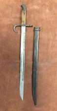 "Vintage Bayonet & Scabbard. 19"" Long"