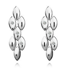 Silver Lady Earrings Tears Cluster Designer Fashion Studs for Women Stone E801