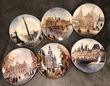 6 Louis Dali Porcelaine de Limoges France Collector Plates Bradex 80's 8.25�