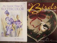 Tole & Folk Art  painting books lot Birds & Watercolor