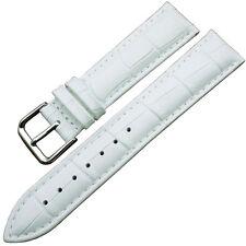 Cinturino In Pelle Universale Ricambio Per Orologio Larghezza 22mm Bianco lac