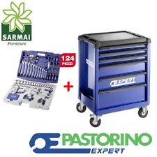 Pastorino Expert carrello porta utensili cassettiera attrezzi + valigetta 124 pz