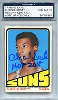 "Charlie Scott ""HOF 2018"" Autographed 1972 Topps Card (PSA/DNA)"