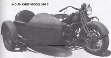 INDIAN 340 CHIEF OPERATION PARTS MANUALs 380pg Motorcycle Sidecar Service Repair