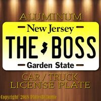 Bruce Springsteen THE BOSS New Jersey Vanity Aluminum License Plate Tag New