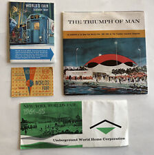 1964 NY WORLD'S FAIR LOT TRIUMPH OF MAN RECORD UNDERGROUND WORLD HOME SUBWAY MAP