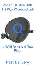 More details for zone 1 sky q satellite dish & 2/way wideband lnb