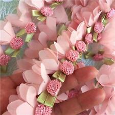 "1 yard Fabulous 3D Pink Chiffon Petal Leaves Lace Trim High Quality 1.57"" width"