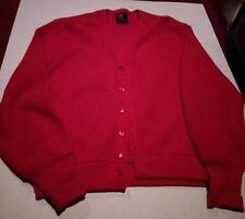 Cardigan Arnold Palmer by Robert Bruce men's medium virgin wool vintage red