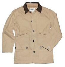NWOT Orvis Men's Corduroy Collar Cotton Barn Jacket Beige Saddle Size M Medium