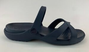 Crocs Womens Blue Slide Sandals Sz US 10