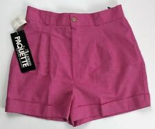 NWT Vintage 80s Alfred Paquette Pink High Waist Shorts Women's Size Small
