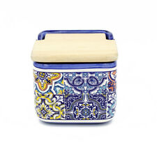 Hand-painted Traditional Portuguese Ceramic Salt Holder
