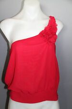 Womens size small Blush brand one shoulder red shirt top blouse