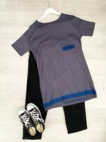 Toast T Shirt Dress Navy Blue Mix Short Sleeve summer occasion Size Small