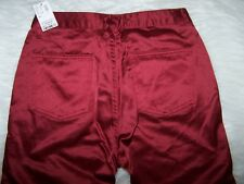 Womens Limited Too Jeans Red Satin Like Flare Bottom Jeans Juniors 3 NWT $39.50