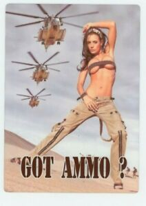 Got Ammo METAL Sign -  Sexy Military Girl