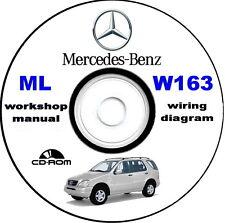 Workshop Manual,Mercedes-Benz ML W163,manuale officina Mercedes Classe M