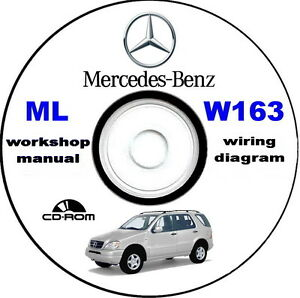 Workshop Manual,Mercedes-Benz ML 320 W163,manuale officina Mercedes Classe M