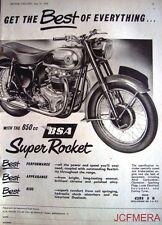1958 Motor Cycle ADVERT - B.S.A. '650 Super Rocket' (£283-3s-8d) Print AD #3