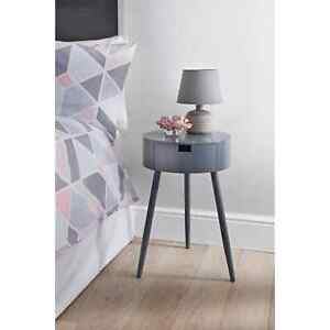 Moden Grey 1 Drawer Bedside/End Table Perfect For Your Home W40 x D40 x H60cm