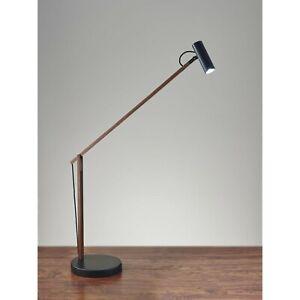 Adesso ADS360 Crane LED Desk Lamp, Walnut Wood/ Black AD9100-15 ~NEW Open Box