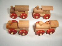 WOODEN ENGINES MODEL TRAINS SET 1995 1:160 N - KINDER SURPRISE LOCOMOTIVES