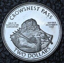 1997 Crowsnest Pass Alberta Two Dollar Souvenir Token - Blairmore Courthouse