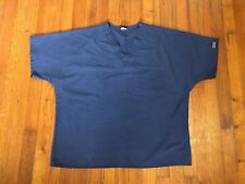 CHEROKEE Womens Scrub Top Blue Size Large Preowned Good Free Shipping Nurse Aid
