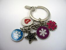 Collectible Keychain: COACH Brand Snowflakes Beautiful Winter Design
