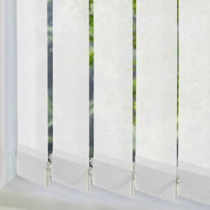 """Excel Made To Measure Vertical Blind Slats *Only 99p* - 89mm/3.5"""" -White Fabrics"""