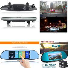 7''  HD 1080P Car DVR Camera G-sensor Vehicle Rearview Mirror Video Recorder