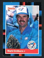Mark Eichorn #121 signed autograph auto 1988 Donruss Baseball Trading Card
