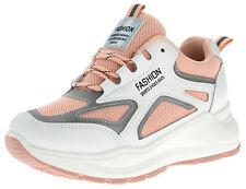 EU 37 Damen Sneaker Sportschuhe Freizeit Schuhe Plateau Schnürer Pink 17772