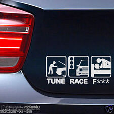 (316) FUn Sticker Aufkleber Motiv: Tune Race F*** VW Golf 2  GTI Stickerbomb