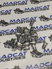 300x M8 304 stainless steel nutsert, rivnut  splined and flanged