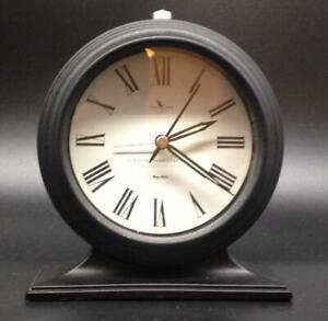 FirsTime Antolini Tabletop Alarm Clock in Black