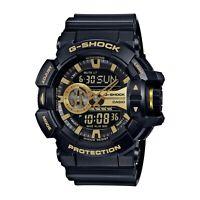 Casio Men's G-Shock Garish Series Black & Gold Resin Watch GA-400GB -1A9