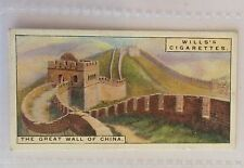 The Great Wall Of China Wonders Of The Past 1926 Wills Cigarette Card (B14)