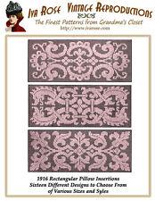 1916 Filet Lace Italian Renaissance Pillow Insertions