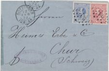 Netherland Sc 23 and 25 on COVER 1874 very nice  FVF