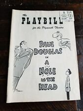 "1957 Paul Douglas in ""A Hole in the Head"" PLAYBILL with Ticket Stub"