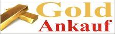3 Stück GOLD ANKAUF Aufkleber auf Selbstklebefolie 100 x 35 cm NEU